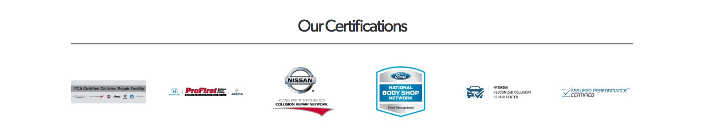 Auto Body Shop Certifications