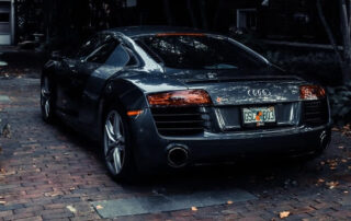 audi car parked in entryway